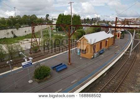 Train station of Katoomba in the Blue Mountains, Australia