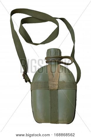 Military canteen / Equipment for Military / isolated white