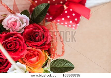 Valentines day love and sweetest concept, rose flower