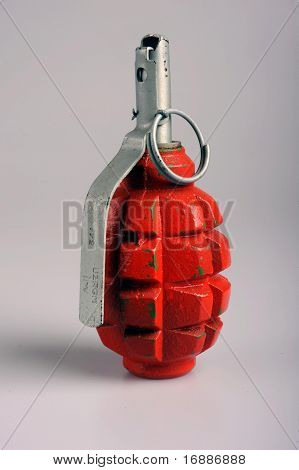 Russian (Soviet) pattern F1 hand grenade nicknamed the limonka (lemon grenade) is an anti-personnel fragmentation defensive grenade. The grenade is frequently encountered in Iraq and Afghanistan in use with insurgents mujahideen jihadi and taliban fighter poster