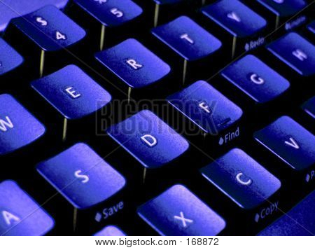 Blue Toned Keyboard