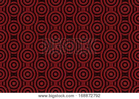 Illustration of several red and black concentric circles