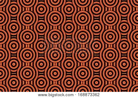 Illustration of several orange and red concentric circles