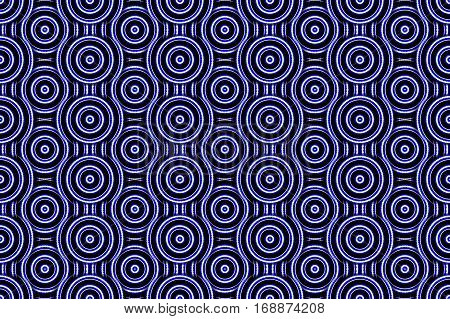 Illustration of several dark blue and white concentric circles
