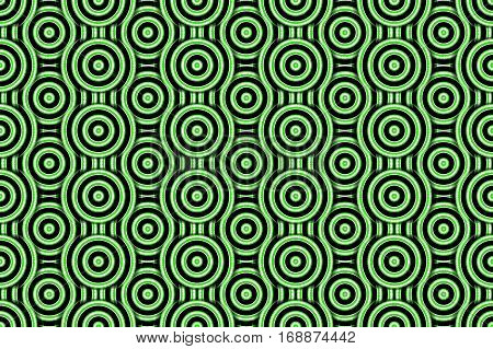 Illustration of several green and white concentric circles