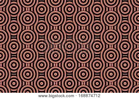 Illustration of several red and white concentric circles