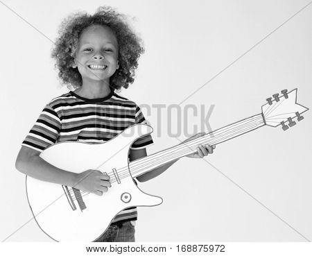 Young Guitarist Rhythm Melody Playing
