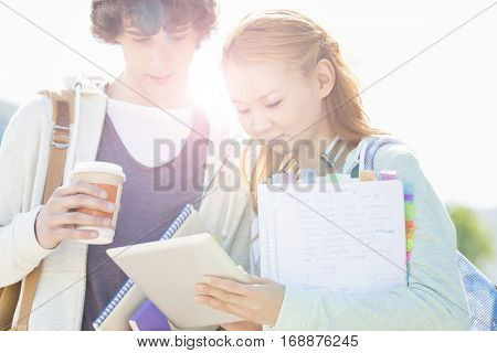 Portrait of students on their university campus