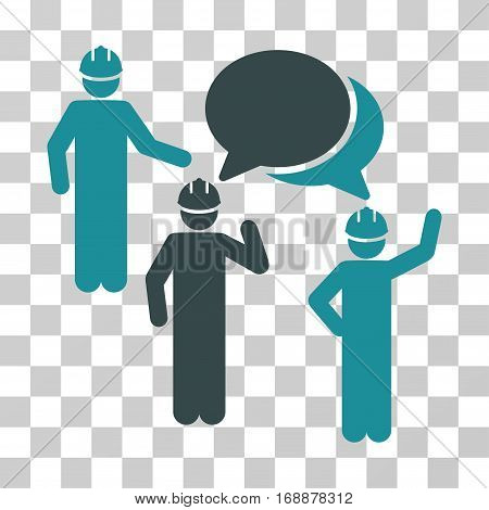 Engineer Persons Forum icon. Vector illustration style is flat iconic bicolor symbol soft blue colors transparent background. Designed for web and software interfaces.
