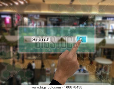 iot internet of things marketing conceptssmart augmented realitycustomer us ar application to search a productor anythingsetc in the retailmall department store