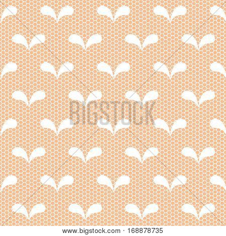 Seamless White Lace Pattern On Neige Background