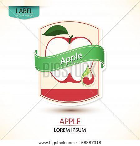 Apple juice Label vector visual ideal for fruit juice. Vector illustration
