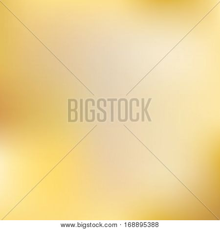 Gold gradient. Blurred golden colors mesh background. Smooth blend banner template. Easy editable soft colored eps8 vector illustration without transparency.