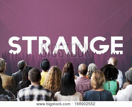 Curious Mystery Bizarre Strange Concept