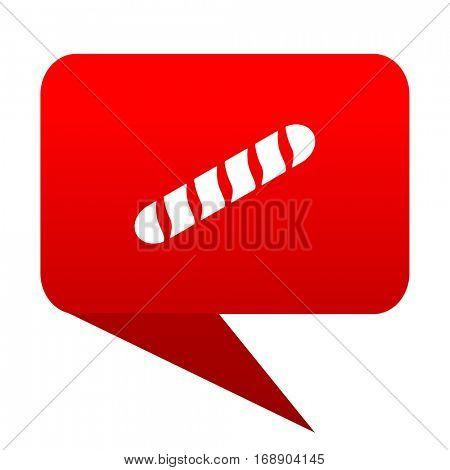 baguette bubble red icon