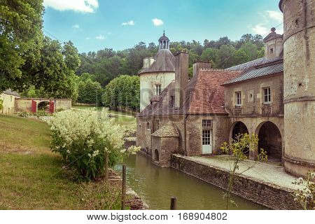 French Chateau of Bussy Rabutin in Burgundy France
