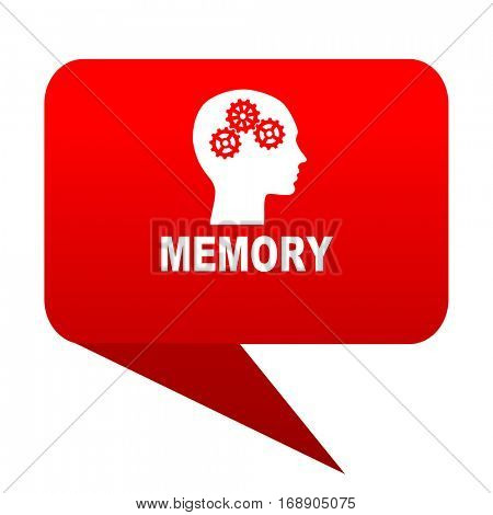 memory bubble red icon
