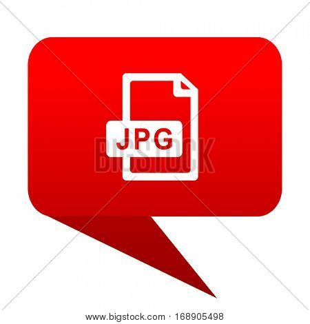 jpg file bubble red icon.