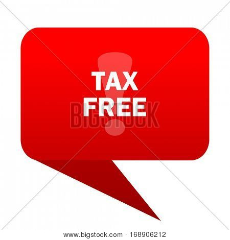 tax free bubble red icon