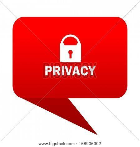 privacy bubble red icon