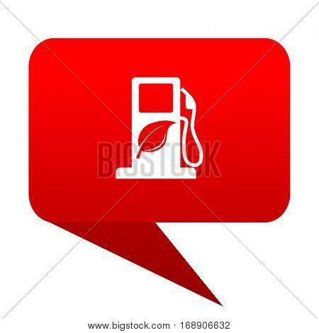 biofuel bubble red icon