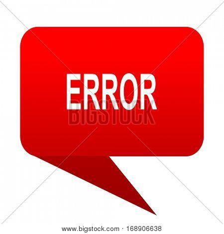 error bubble red icon