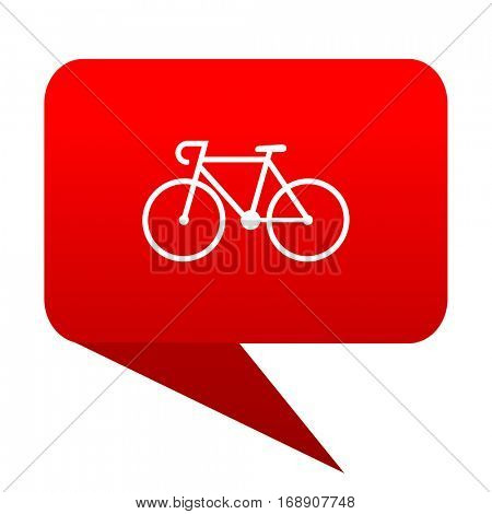 bicycle bubble red icon