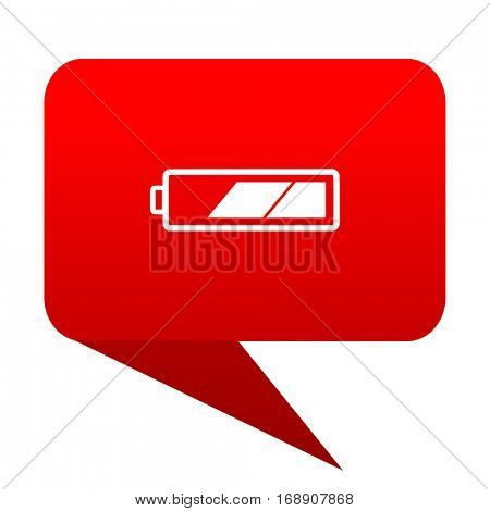 battery bubble red icon