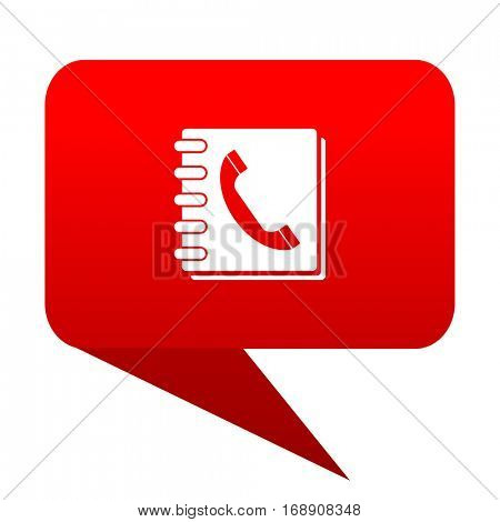 phonebook bubble red icon