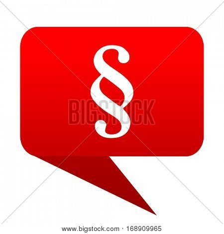 paragraph bubble red icon