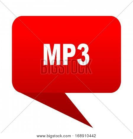 mp3 bubble red icon
