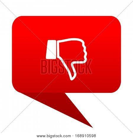 dislike bubble red icon
