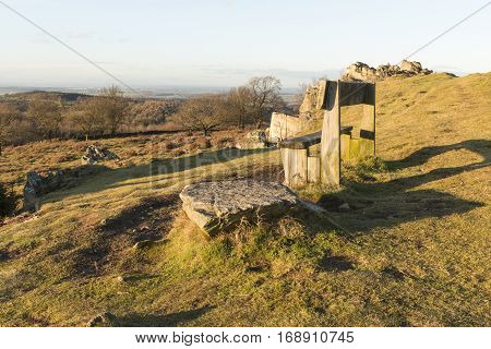 A stunning view from Beacon Hill looking at the surrounding countryside in Leicestershire England UK