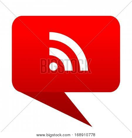 Rss bubble red icon
