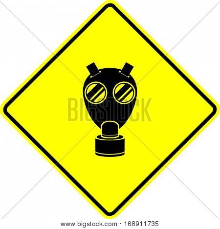 wwii military gas mask sign
