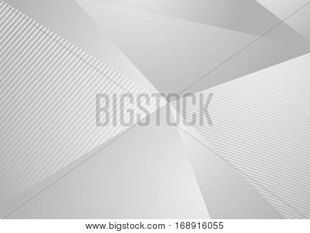 Grey abstract concept polygonal tech background. Vector digital art design
