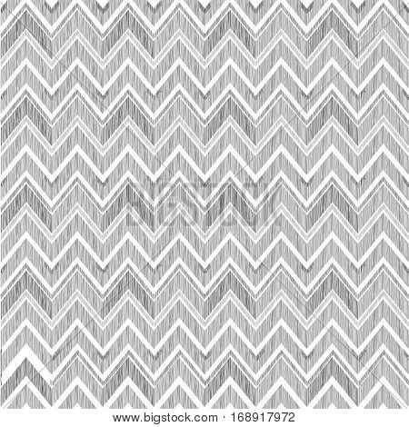 Abstract geometric seamless pattern. Fabric doodle zig zag line ornament. Zigzag pencil drawing background poster