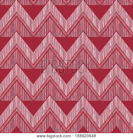 Abstract Zig Zag Geometric Tiled Pattern. Fabric Doodle Line Orn