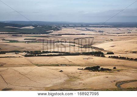 Australian plain landscape from the air
