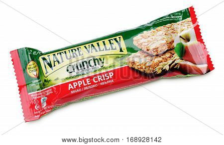 Nature Valley Crunchy Apple Crisp Granola Bar Isolated On White