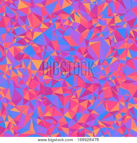 Geometric Bright Abstract Background of Asymmetric Triangles. Stylized Texture of Rumpled Paper.
