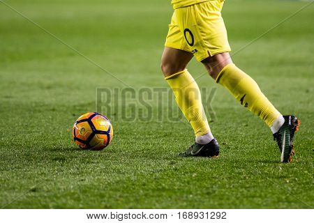 VILLARREAL, SPAIN - JANUARY 8: Pato during La Liga soccer match between Villarreal CF and FC Barcelona at Estadio de la Ceramica on January 8, 2016 in Villarreal, Spain