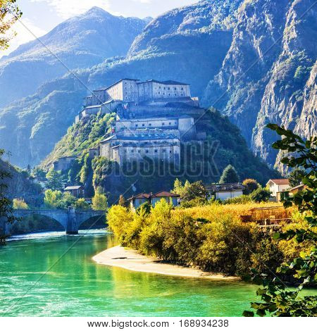 Medieval castles of Italy - Bard fortress in Valle d'Aosta
