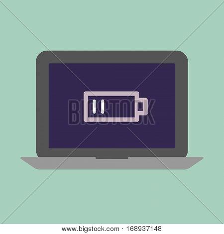 Laptop low battery concept