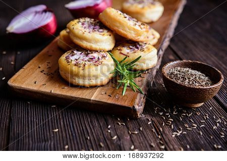 Salty Pies With Red Onion And Cumin