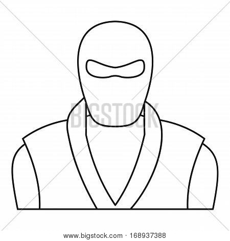 Ninja man icon. Outline illustration of ninja man vector icon for web