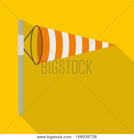 Wind direction indicator icon. Flat illustration of wind direction indicator vector icon for web   on yellow background