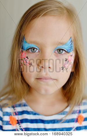 Girl With Aqua Makeup