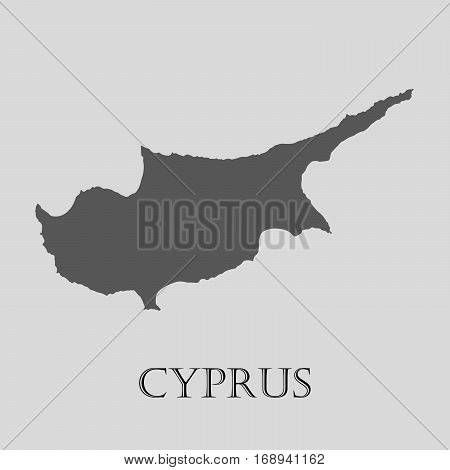 Simple gray Cyprus map on light grey background. Gray Cyprus map - vector illustration.