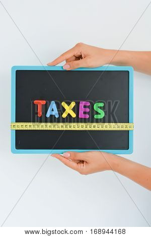 Measure taxes concept in a business, company or economy